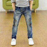 Men's Jeans UVRCOS Kids Clothing Spring Autumn Children Pants Boys Trousers Fashion Gun Cotton Pencil Zipper Leggings Boy Wild