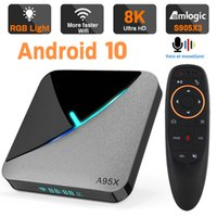 Transpeed Amlogic S905X3 Android 10.0 TV BOX 4K 8K Google Voice Assistant Dual Wifi 3D Youtube Very Fast Box Top Box