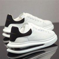Célébrité Internet Chaussures blanches respirantes pour hommes 2021 Été Coussin de coussin d'air surélevé épais en été occasion 210708