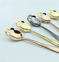 Spoons inoxidável colher de talheres de açúcar kka8123 para cores café cutelaria chá crânio 3 colher de chá 2062 v2