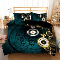 Bedding Sets European American Style Personalized Clock King Comforter Set Luxury Super 260x220 Duvet Cover Cotton