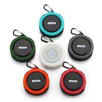 Small Portable Mini Wireless Bluetooth Speaker C6 Outdoor Sports Shower Waterproof Suction Cup Handsfree MIC Box For Travel Beach Pool Sport Climbing