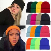 Beanies 2021 Winter Hats For Women Men Knitted Solid Cool Hat Girls Autumn Female Beanie Warm Bonnet Casual Cap Wholesale