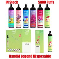 Original Randm Legend 일회용 장치 Kit Kit RM 전자 담배 5000 퍼프 950mAh 배터리 12ml 프리 쿼리 카트리지 포드 vape 스틱 펜 대 공기 막대 최대 럭스 XXL 100 % 정통