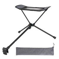 التخييم كرسي قابل للسحب مسند القدم المحمولة للطي القابلة للطي كرسي الراحة ظهره شاطئ الصيد في الهواء الطلق bbq مسند