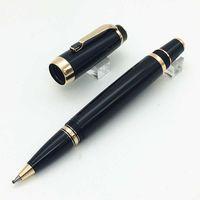Canetas de luxo canetas de metal preto caneta m rollerball ouro acabamento Bohemia Preto Gem Clipe Escola Escola Suprimentos Penas para escrever