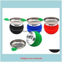 Other Smoking Aessories Household Sundries Home & Gardenest 4 Colors Innovative Hookah Sile Cigarette Top Bowl With Metal Cap Shisha Bowls F