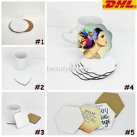 DIY Sublimation Blank Coaster Wooden Cork Cup Pads MDF Advertising Gift Promotion Love Round Flower Shaped Cup Mats DD