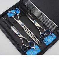 JOWELLL 8,0 pouces 62HRC Dureté 440C Ciseaux à cheveux en acier inoxydable avec saphir sur les ciseaux de coupe des cheveux à vis