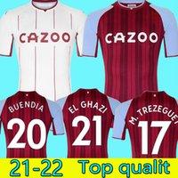 21 22 Aston Soccer Jerseys Villa Grealish Buendía Traore Barkley Football Shirt 2021 2022 Watkins Wesley Ghazi M.Trezeguet McGinn Men Kits Kits Uniformes Camiseta