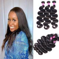 Peruvian Brazilian Hair Body Wave Human Hair Weave bundles 3pcs lot Malaysian Idian Human Hair