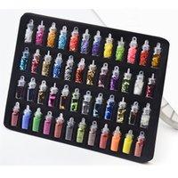 48 şişeler DIY Nail Art Charms Dekorasyon Slime Malzemeleri Seti 3D Glitter Toz Konfeti Akrilik Tasarım Aksesuarları için Yüz Vücut