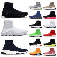 Speed Trainer mens sock shoes women high low top sneakers triple black white beige clear sole men casual tennis shoe jogging walking