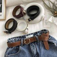 PU Pantalone femminile rotondo moda coreana per il tempo libero gioventù semplice pin fibbia cintura cintura pantaloni decorazione
