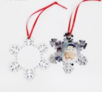 sublimation blank Christmas tree decoration pendant MDF two-sided printing DIY gifts tag heat transfer printing plate