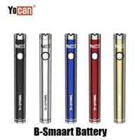 Authentic Yocan B-Smart Battery 320mAh Slim Twist Preheat VV Bottom Adjustable Voltage E Cig 510 Vape Pen With Display Stand 100% Original
