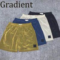 Мужчины упругих талии шорты мужчина легкие летние короткие брюки мальчик хип-хоп вышивка брюк брюк уличная одежда градиент высокого качества 2021