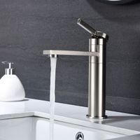 WACOの浴室のシンクの蛇口、360°回転噴流のシングルハンドルのハンドルのハンドルのハンドルの洗面台の洗面器の蛇口の蛇口。ステンレス鋼