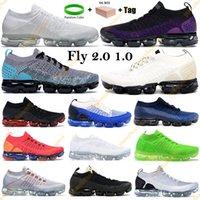 Scarpe da corsa nere Multi Color Fly 2.0 2019 Pure Platinum Uomo Sneakers traspiranti da donna 1.0 Scarpe da uomo triple nere firmate