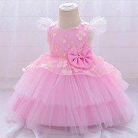 Baby Mädchen Kleider Nettes Kleid Prinzessin Kleider Baby Mädchen Kleidung Kind Kleidung Spitze Floral Tutu Formale Kleider Party B4255