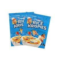 500mg Boş Pirinç Krispies Toasted Pirinç Tahıl Mylar Çanta Ambalaj