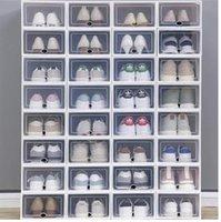 2021 Caixas de Armazenamento de Sapatos 36 Pack Limpar Plástico Empilhável - Racks Home Organização