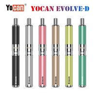 Yocan original evoluir evoluir-d kit de cera de cera vaporizador de ervas secas vape kits e kit de cigarro com dispositivo de 650mAh extra dupla