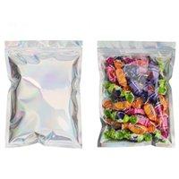 Neueste Ankunft Holographische Farbe Multiple Größen wiederverschließbare Geruchsweise Taschen Folie Beutel Tasche Flache Ziplock Bag für Party Gunst Lebensmittelaufbewahrung