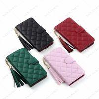 Klasik tasarımcı telefon kılıfı iphone 12 mini 12pro 11 11pro x xs max xr 8 7 artı deri cüzdan flip pouch kapak iphone12 11promax