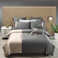Bedding Sets Neoclassical Chic Embroidered Duvet Cover Egyptian Cotton Soft Set 4Pcs Queen King Size BedSheet Pillowcases