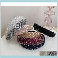 Headbands Jewelry Jewelryhair Hoop For Women Hair Aessories Handmade Weaving Crystals Hairband Headband Bling Adults Wide Head Band Drop Del