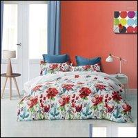 Bedding Supplies Textiles & Gardenbedding Sets Flower Pattern Home Comforter Set Bed Er Twin  Queen  King Duvet Bedclothes Quilt + Pillowcas
