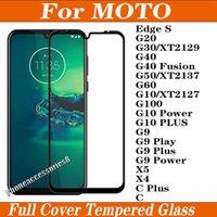 9D غطاء كامل الزجاج المقسى حامي شاشة الهاتف ل moto motorola حافة s g20 g30 g40 الانصهار g50 g100 g10 g9 power x5 x4 c plus