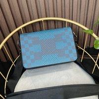 Mit Box 2021 Top Qualität Herrenstudio Messenger Bags 3D Leinwand Mode Plaid Mann Kreuz Körper Geldbörse N50013