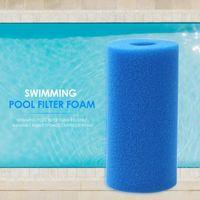 Poolzubehör Wiederverwendbarer Schwimmschaumfilter Schwamm für Intex Typ Ein waschbarer Biofoam-Reiniger Piscina