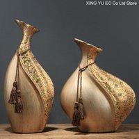 Художественная керамическая ваза творческий дом украшения дома украшения гостиной современный завод Цветочная композиция аксессуары ремесленные ваза