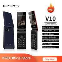 IPRO V10 Telephone Flip 2G GSM Celulares Feature Phone 2.4Inch Dual SIM Card MP3 Player 0.08MF Camera TF 16GB Clamshell Mobile Phones