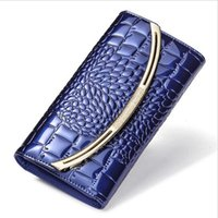 Wallets 2021 Genuine Leather Ladies Clutch Coin Purse Women And Purses Female Crocodile Cow Wallet