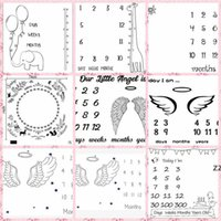 Baby Milestone Booket Письмо Цветок Печать Творческие Мягкие Новорожденные Обертывающие Платенья Мода Детские Вехи Одеяла Одеяла HWD7248