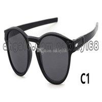 9265 und Sonnenbrille Box Fall Mode Runde Rahmen Sun Latch Männer Sport Frauen Und Angeln Sonnenbrille mit Vintage Designer Gläsern CJLJP