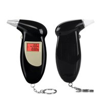 LCD Alcohol Tester Digital Alcohol Detector Breathalyzer 2016 Police Alcotester Backlight Display free shipping SN2454