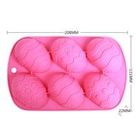 6 ثقوب بيض عيد الفصح الشوكولاته قوالب سيليكون شكل كعكة قوالب خبز الخبز صحن عالية درجة الحرارة المطبخ كعكة اكسسوارات Oof5158