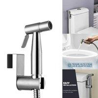 El Çok Fonksiyonlu Paslanmaz Çelik Duş Başlığı Kendini Temizleme Banyo Hortumu Tuvalet Bide Püskürtme Seti Kolay Kurulum Donanım