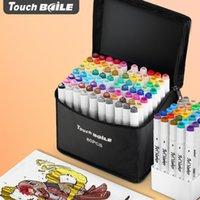 Double touch Head Marker Set Student Animation 30/40 60 80 168 Color arte pintura pluma