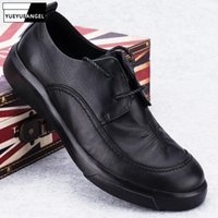 Dress Shoes Spring Mens Genuine Leather Lace Up Business Man Soft Formal Driving Winter Warm Fleece Lining Footwear