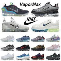 air VaporMax 2021 360 mujer hombre zapatillas para correr dama Vapormaxs 2021s 360s 2020s Oreo  zapatillas deportivas de punto al aire libre
