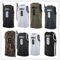 Пользовательские чистые отпускное имя № 6 Джаред Дудли белый черный зеленый коричневый баскетбол Джерси мужские женские молодежные майки