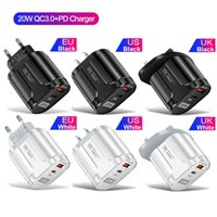 Quick Charge dual Ports 20W PD Wall Charger Fast Charging Power Adapters For Iphone 11 12 13 Samsung Huawei Android phone with Box