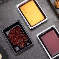 NewDisposables Sushi Soy Sauce 일회용 식기류 접시 직사각형 샐러드 소금 조미료 컨테이너 플레이트 레스토랑 테이크 아웃 패키지 EWA564