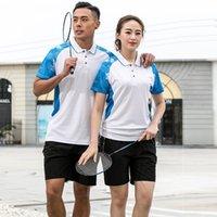 Tracksuits Jerseys Duike Badminton Jacket Men's Breathable Short Sleeved Shirt Top Women's Single Sweatshirt Summer Table Tennis Lapel T-shirt